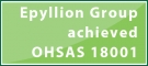 Epyllion Group achieved OHSAS 18001