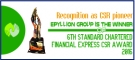 Epyllion Group won the 6th Standard Chartered Bank Financial Express CSR Award this year
